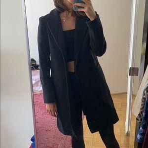 Grey Wool Maje Coat
